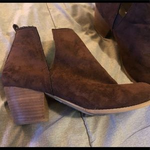 Torrid 12w wedge brown booties